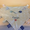 Thumbnail: Personalised Baby Boy or Girl Dimple Blanket With Tags (Blue Star Dimples)