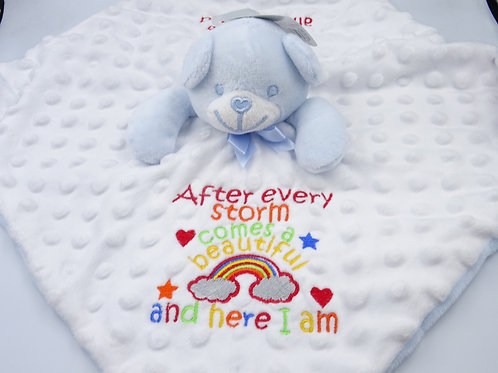 Personalised Rainbow After Every Storm with Message Comforter