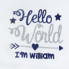 Personalised Hello World I'm Name Long Sleeved Vest