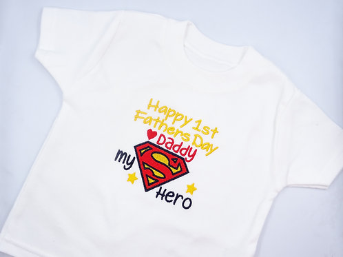 Superman Happy 1st Fathers Day Daddy T-Shirt