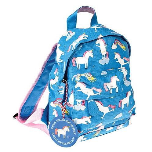 Personalised Embroidered Mini Backpack - Magical Unicorn - Add Name