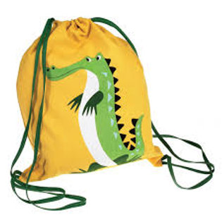 Personalised Embroidered Drawstring Bag - Harry the Crocodile - Add Na