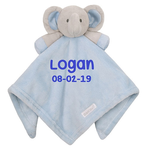 Personalised Elephant Comforter Available in Blue, Pink and White