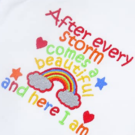 Embroidered After Every Storm Comes a Beautiful Rainbow Baby T-Shirt