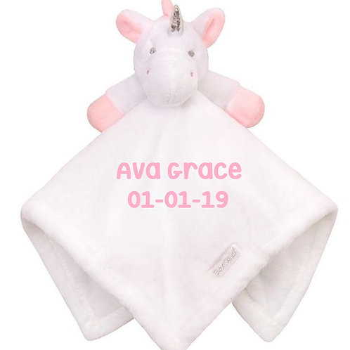 Personalised Name and Date(Optional) Unicorn Comforter