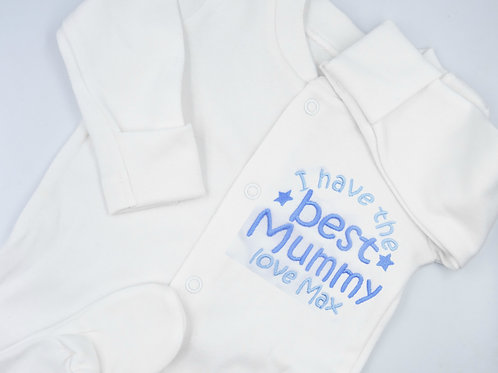 Personalised Embroidered I Have The Best Mummy Love Name Mother's Day Sle