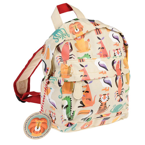 Personalised Embroidered Mini Backpack - Colourful Creatures - Add Name