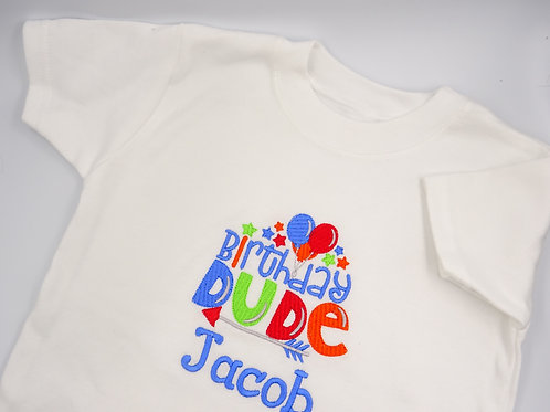 Personalised Birthday Dude Boys T-Shirt