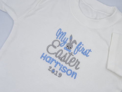 Personalised Embroidered My First Easter Bunny Baby T-shirt