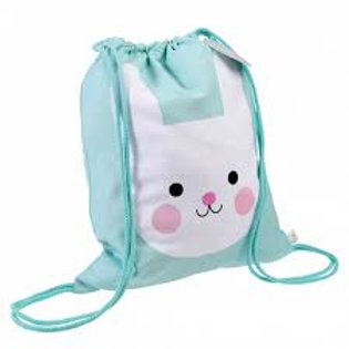 Personalised Embroidered Drawstring Bag - Bonnie the Bunny - Add Name