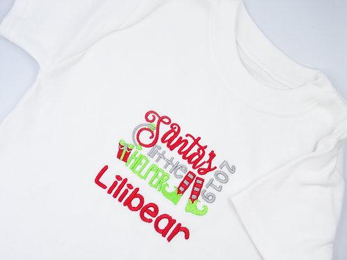 Personalised Santa's Little Helper T-Shirt