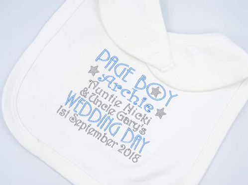 Personalised Page Boy Wedding Day Bib