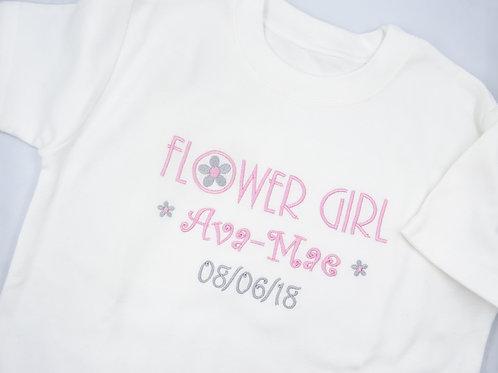 Personalised Flower Girl T-Shirt