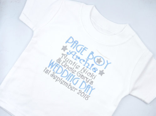 Personalised Page Boy Wedding Day T-Shirt