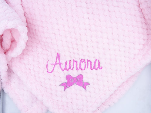 Personalised Pink Waffle Blanket - Add Name