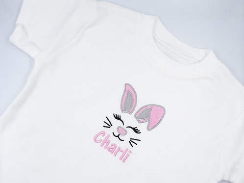Personalised Embroidered Easter Bunny Baby T-shirt