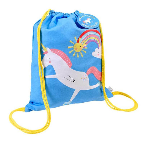 Personalised Embroidered Drawstring Bag - Magical Unicorn - Add Na