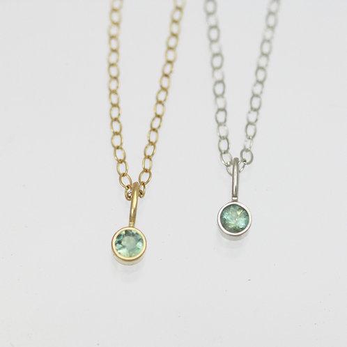 Alexandrite Drop Necklace 3mm in 14k Gold