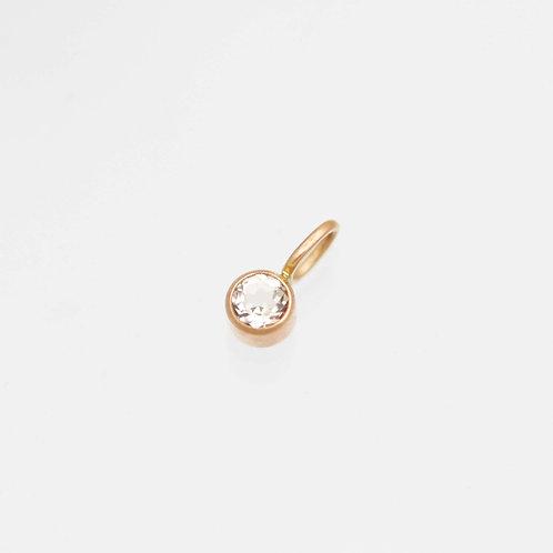 Morganite Drop Pendant in 14k Rose Gold