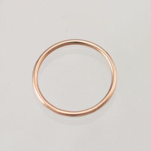 Rose Gold Wedding Band 14k