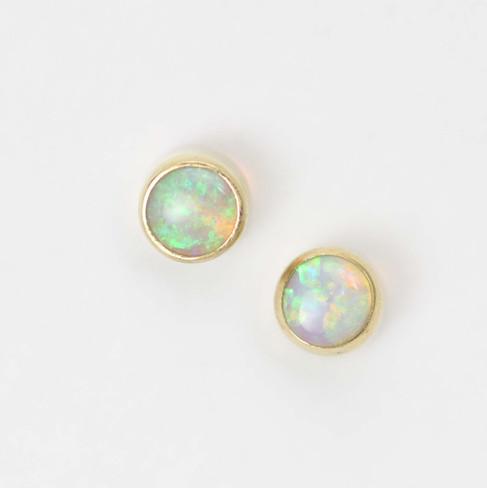 Custom 6mm Opal Drop Studs