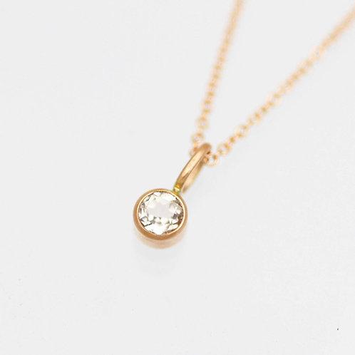Morganite Drop Necklace in 14k Rose Gold