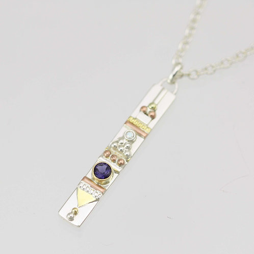 Totem Necklace with Iolite & Moonstone