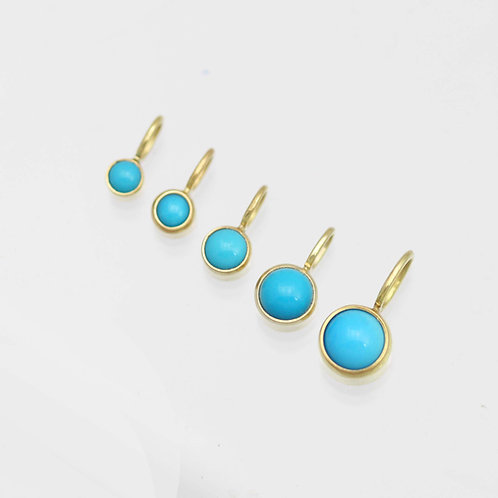 Turquoise Drop Pendants in 14ky Gold (pendant only)