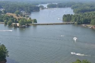 Overhead View of Lake
