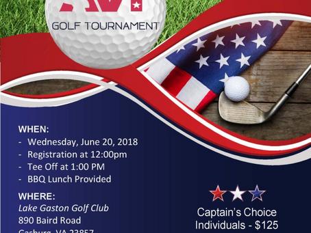 AVT Golf Tournament: June 20, 2018