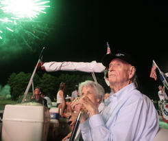 The Seatons enjoying the fireworks