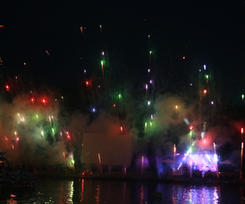 The start of the 2014 Fireworks Show