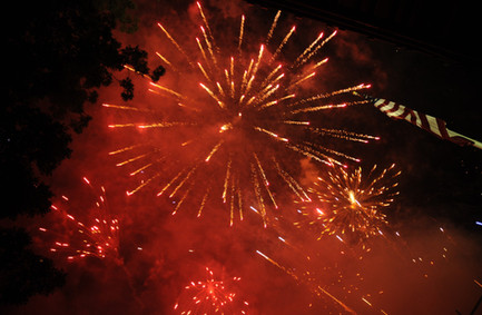 Picture of Red Fireworks from 2014