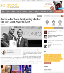 Antonio Bachour, best pastry chef at the Best Chef Awards 2018
