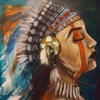 Annette's Native American Warrior