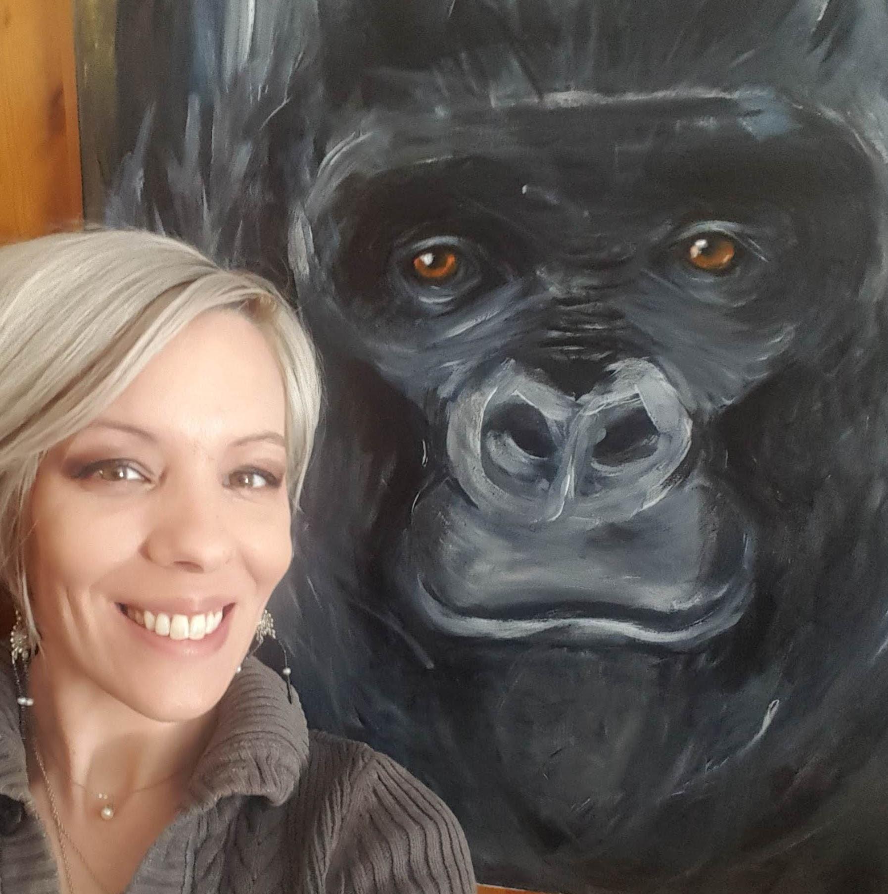 LJ's Gorilla Painting
