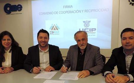 CIMMAR y UCIP firmaron un convenio de cooperación y asistencia técnica.