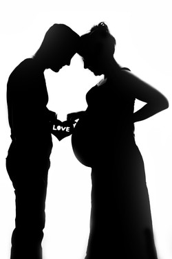 Maelou   grossesse, couple