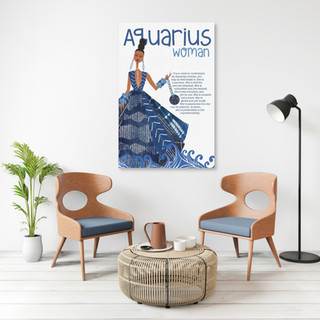 Click here to purchase Aquarius Woman on canvas