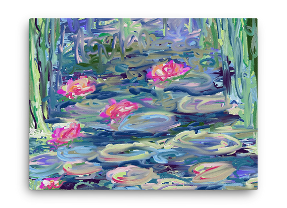 """Water Lily"" 00.8 Canvas"