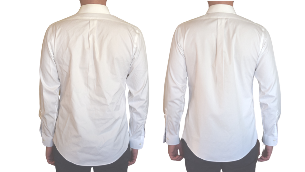 Wrinkle-Free Shirt Back