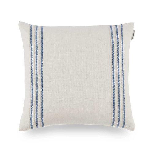 Grain stripe small cushion - indigo