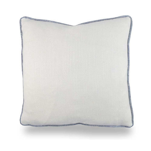 Filey Small Textured Cushion - Chalk