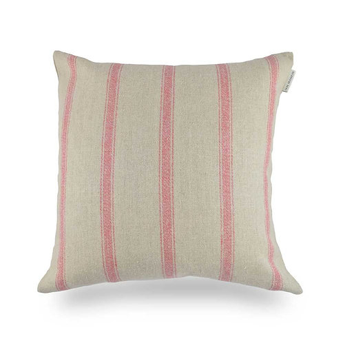 Angus Stripe Small Cushion - Nordic Red