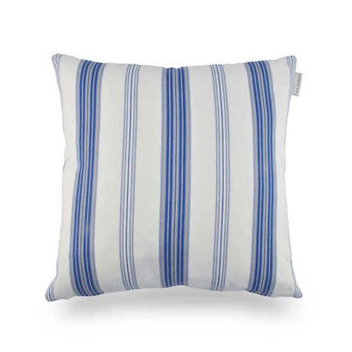 Tenby Small Striped Cushion - Chalk