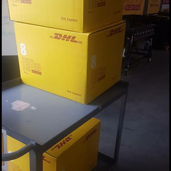 after sponsoring our shipping cost yet again, DHL express donated a ton of boxes of shoes for the se