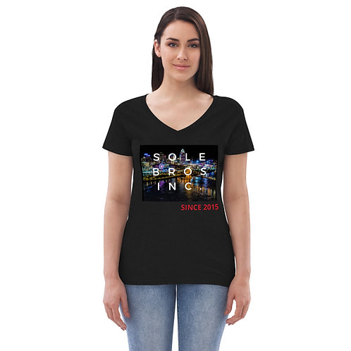 Sole Bros 513Drip Women's recycled v-neck t-shirt