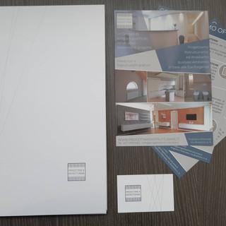 Realizzazione grafica e stampa logo, volantini, cartelletta e biglietto da visita