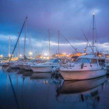 večer v prístave Sausset-les-Pins