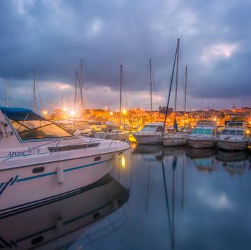 prístav v Sausset-les-Pins